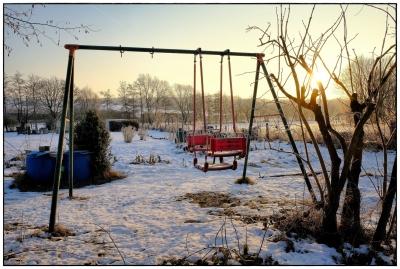 Schaukel im Winter