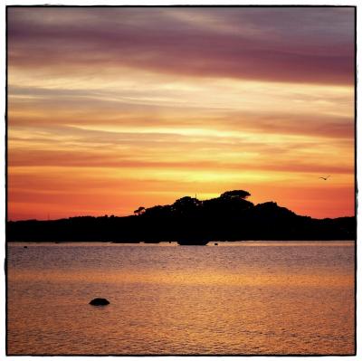 Port Blanc Sonnenuntergang