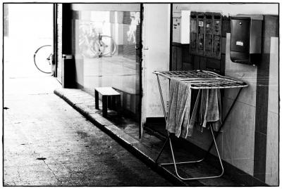 Wäscheständer im Bahnhofsviertel